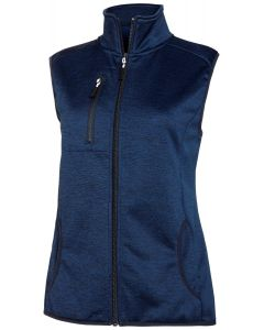 MELANGE FLEECE VEST NAVY 40