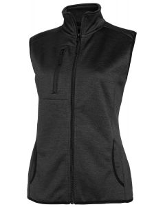MELANGE FLEECE VEST BLACK 38