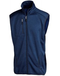 MELANGE FLEECE VEST NAVY 3XL