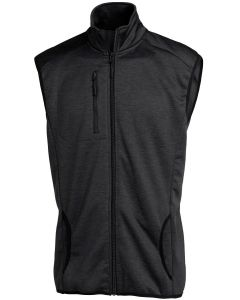 MELANGE FLEECE VEST BLACK L
